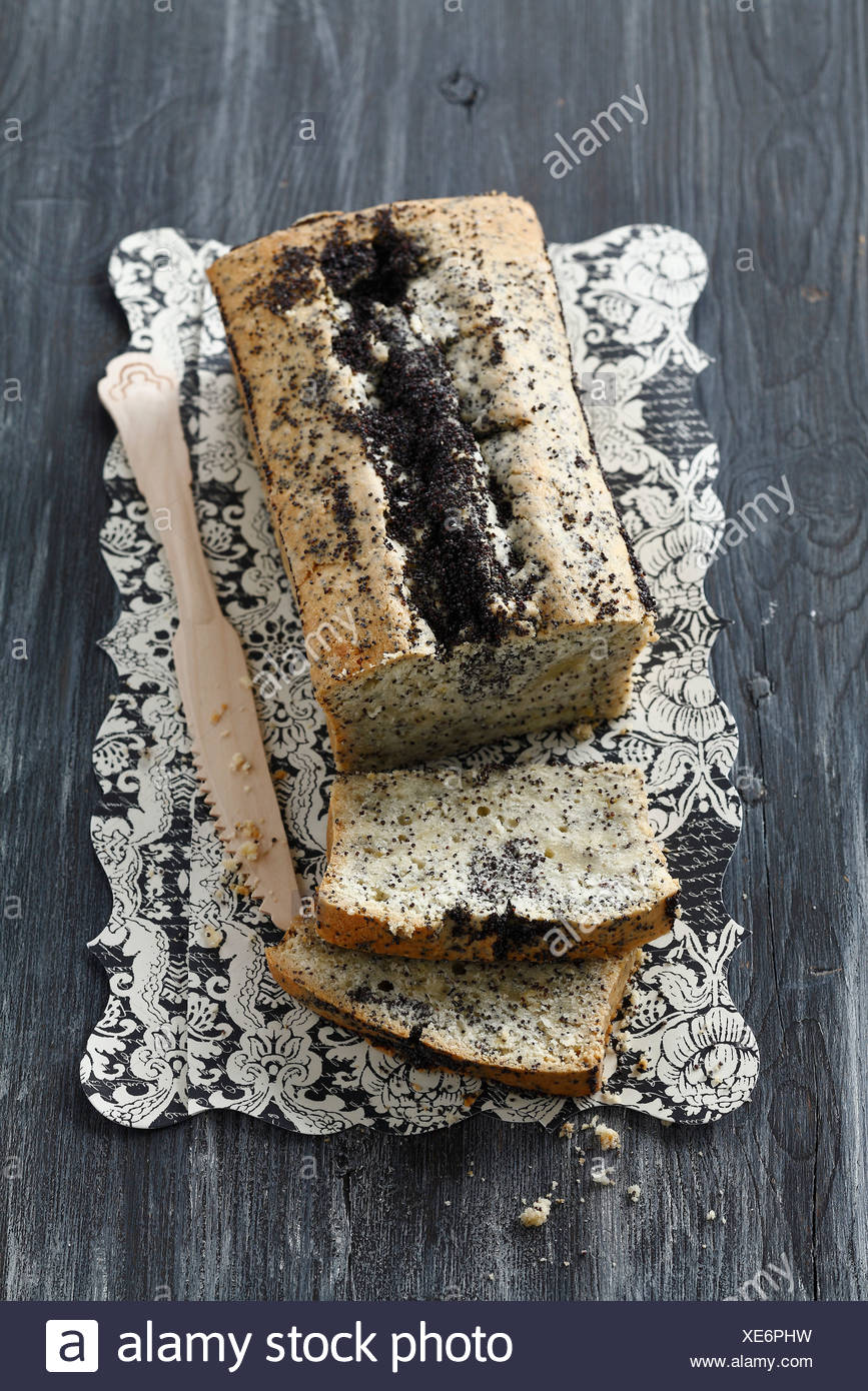 Poppyseed cake - Stock Image