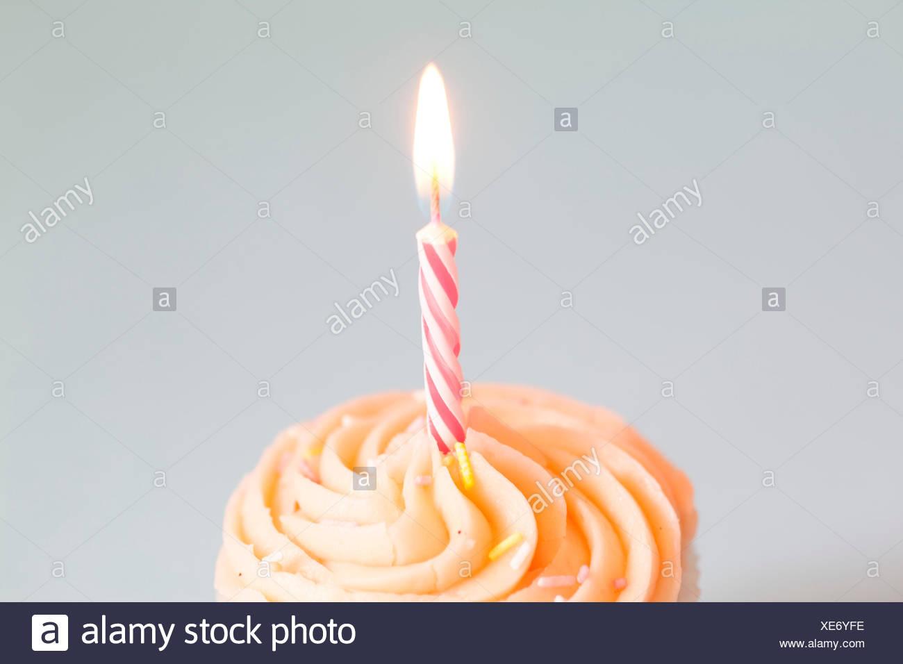 Cupcake On White Background - Stock Image