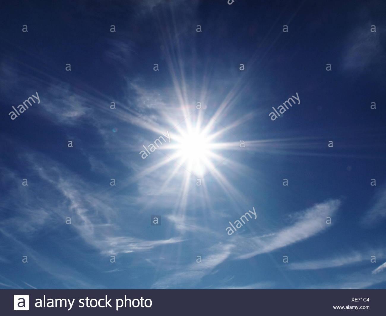 sky,cloudscape,sun,sunlight - Stock Image