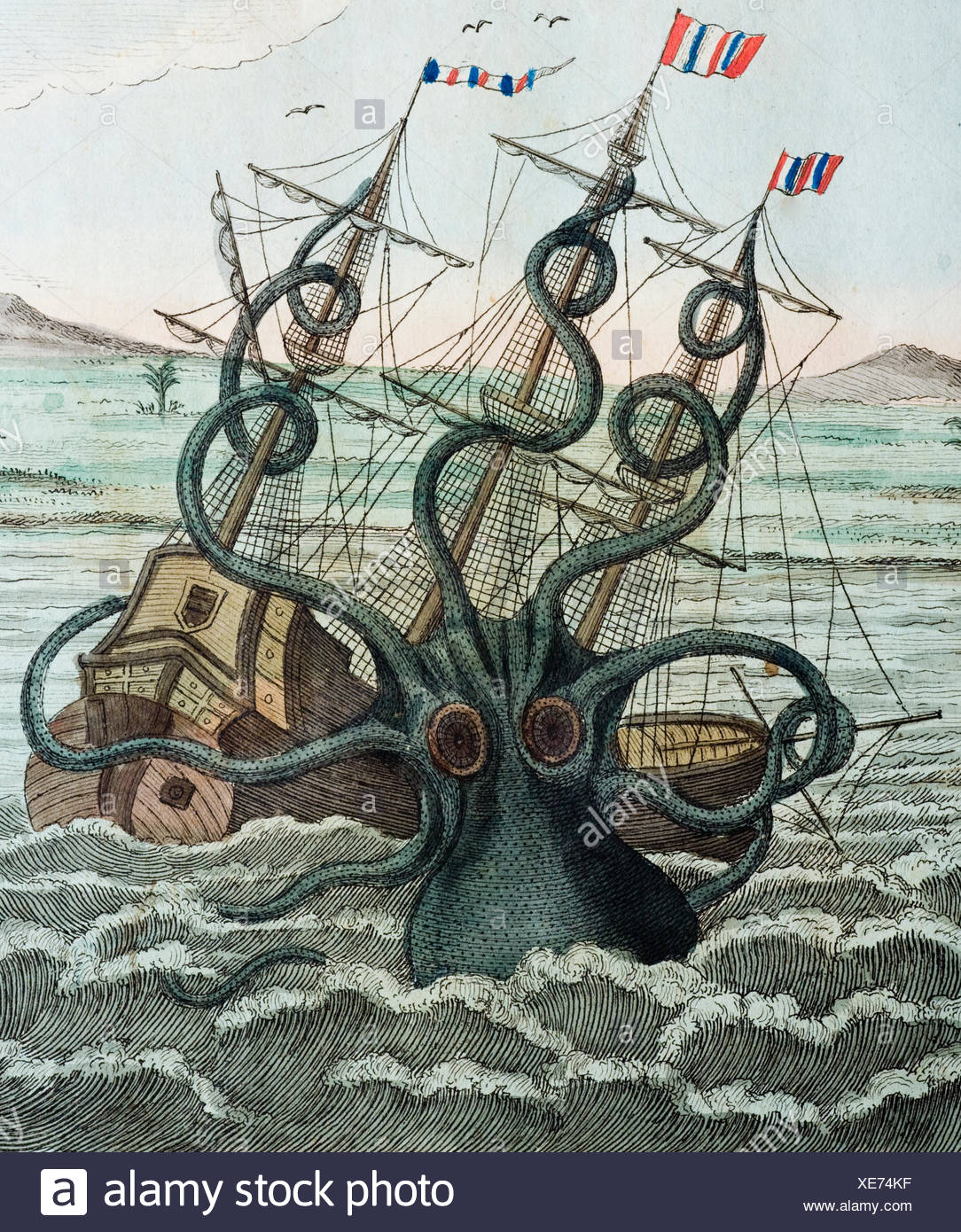 Giant Squid Attacking ...