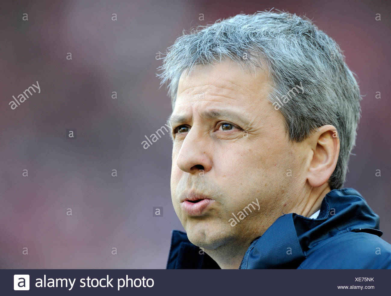 Coach Lucien FAVRE, Hertha BSC Berlin, taking a deep breath - Stock Image