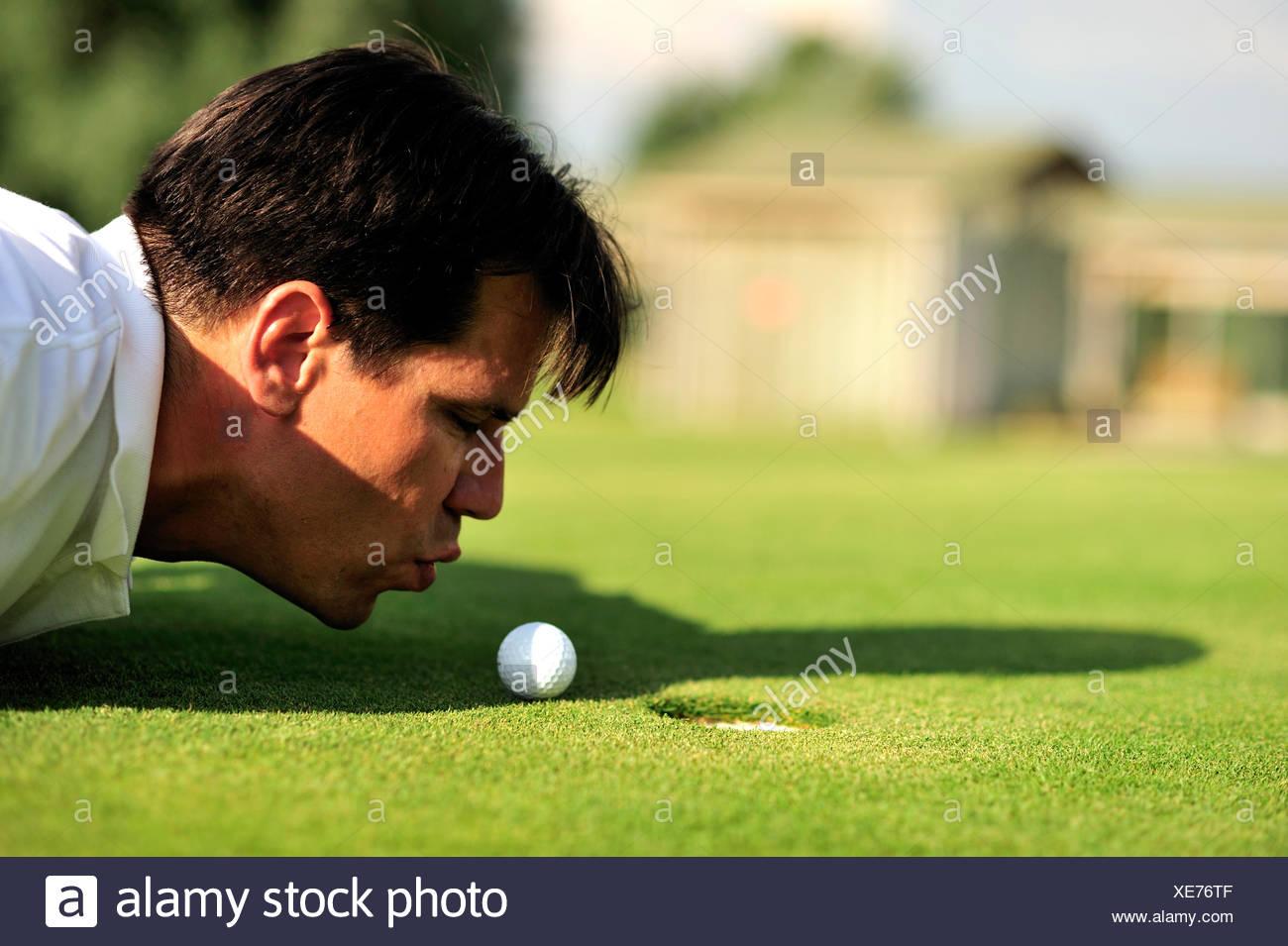 Golf cheater - Stock Image