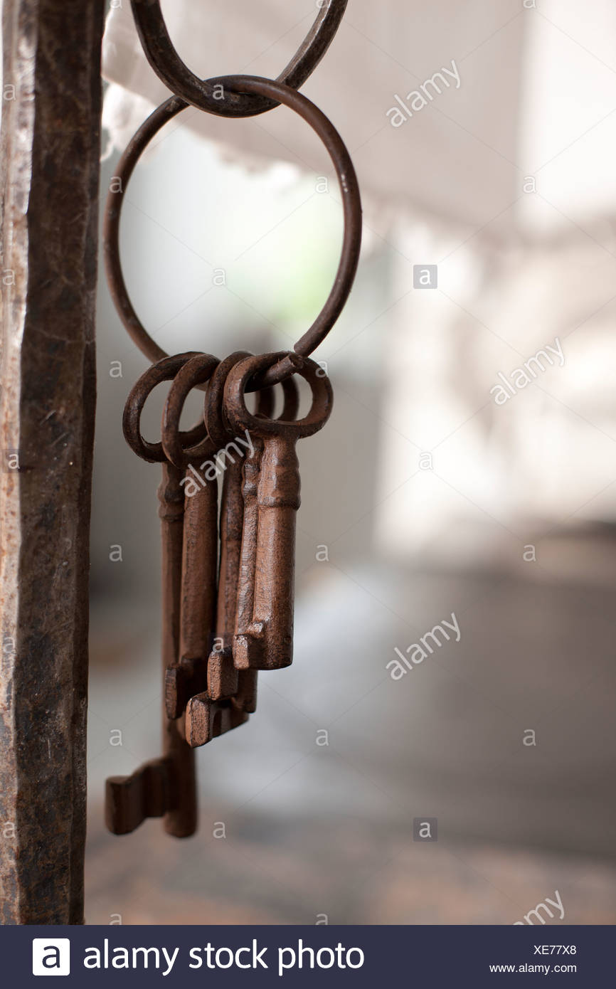Old rusty keys - Stock Image