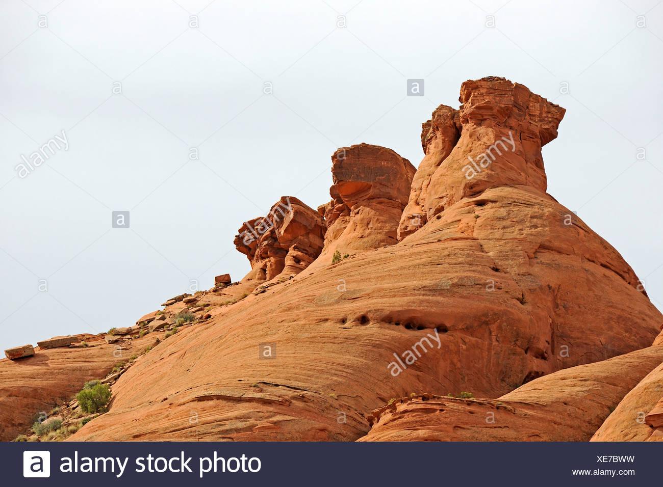 Rock formation, The Three Bears, Mystery Valley, Arizona, Southwest USA - Stock Image