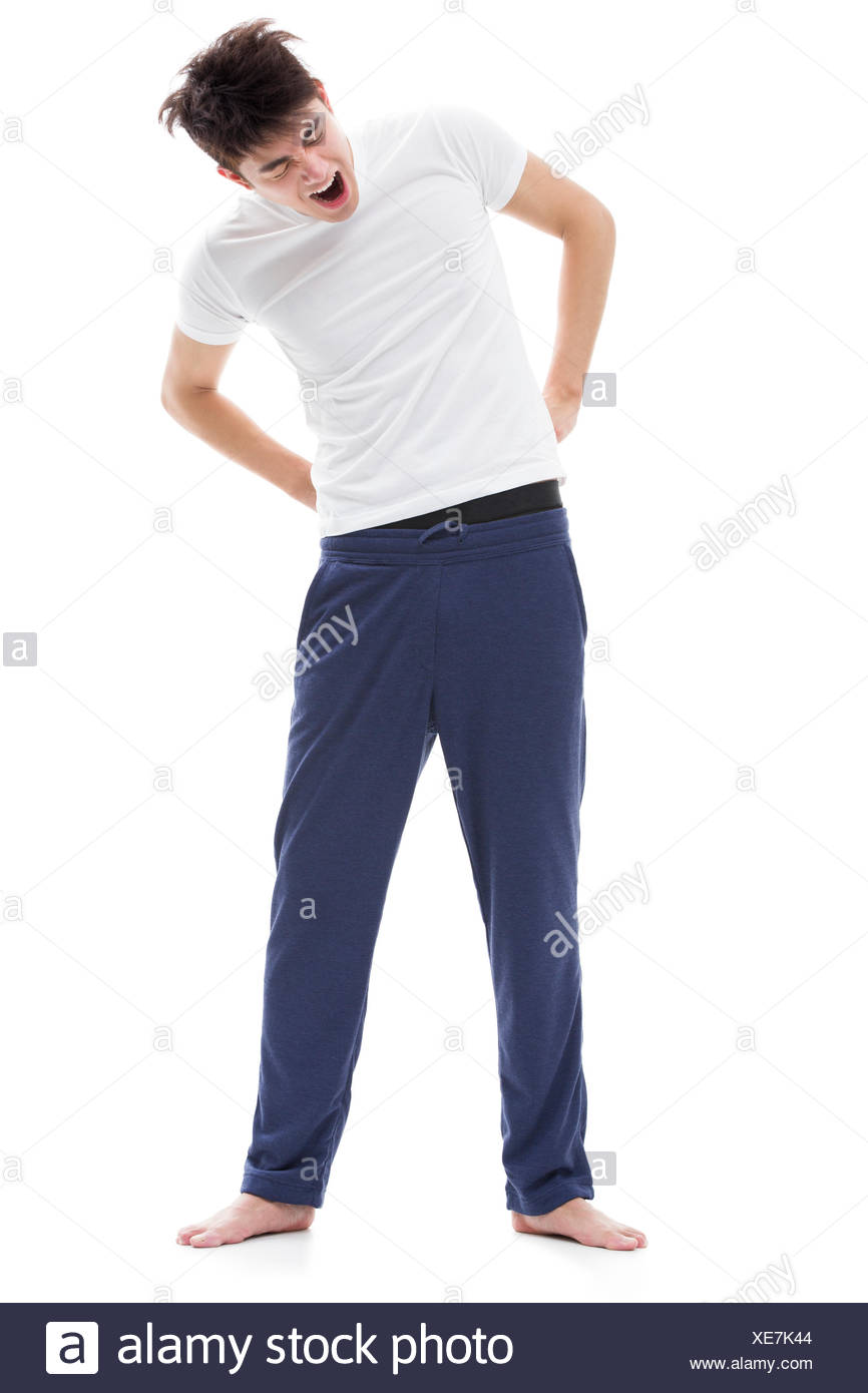 Young man just waking up - Stock Image
