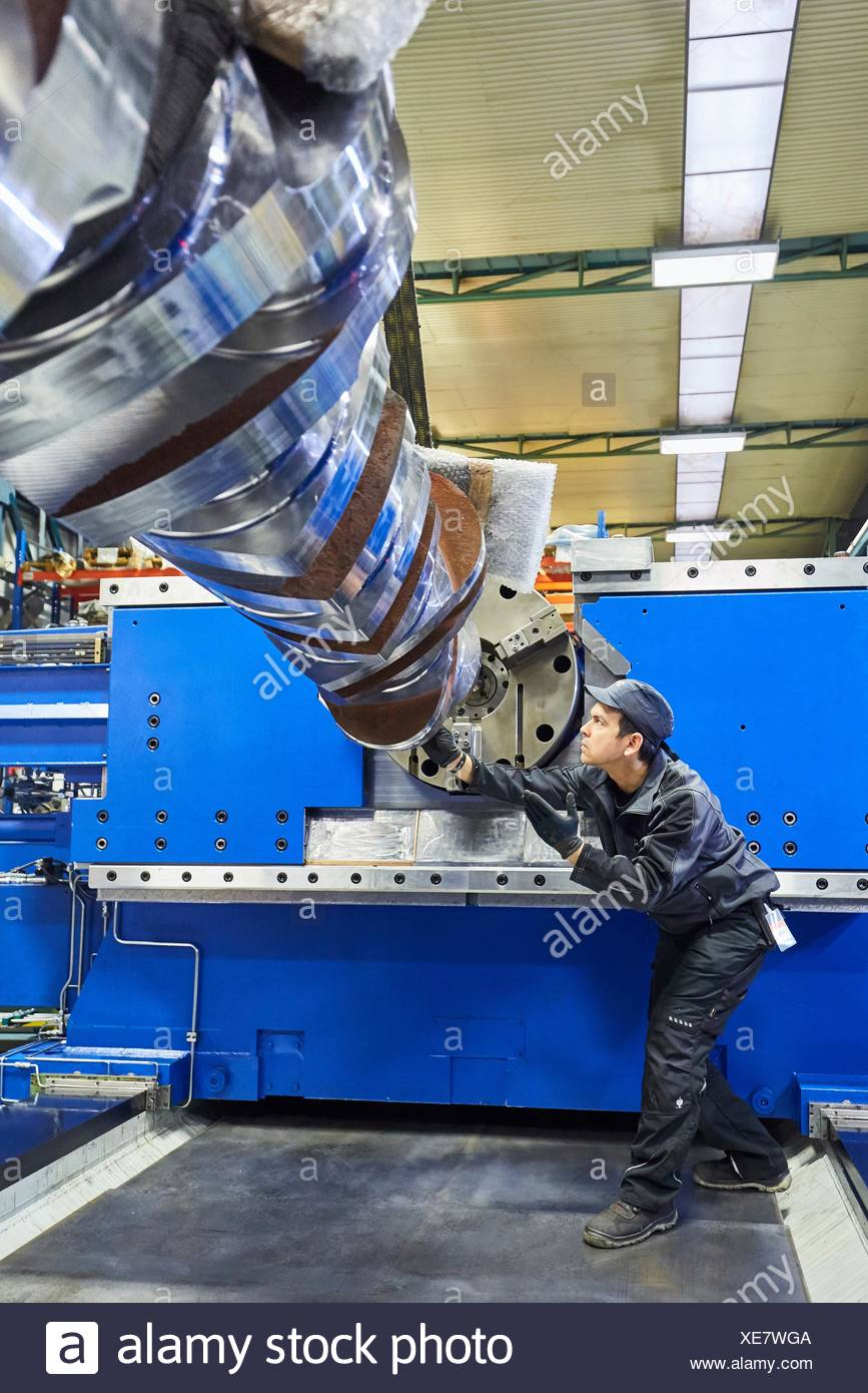Turnmill lathe. Retrofitting. Machining Center. CNC. Design, manufacture and installation of machine tools. Bost Machine Tools Company. Asteasu. - Stock Image