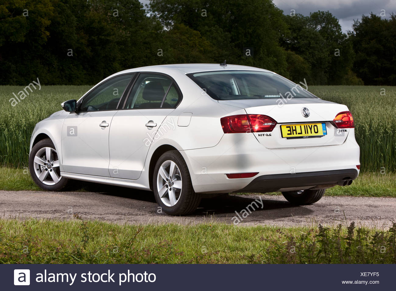 VW Jetta mid sized German Passenger Car in rural Southampton, UK 13 6 2011 - Stock Image