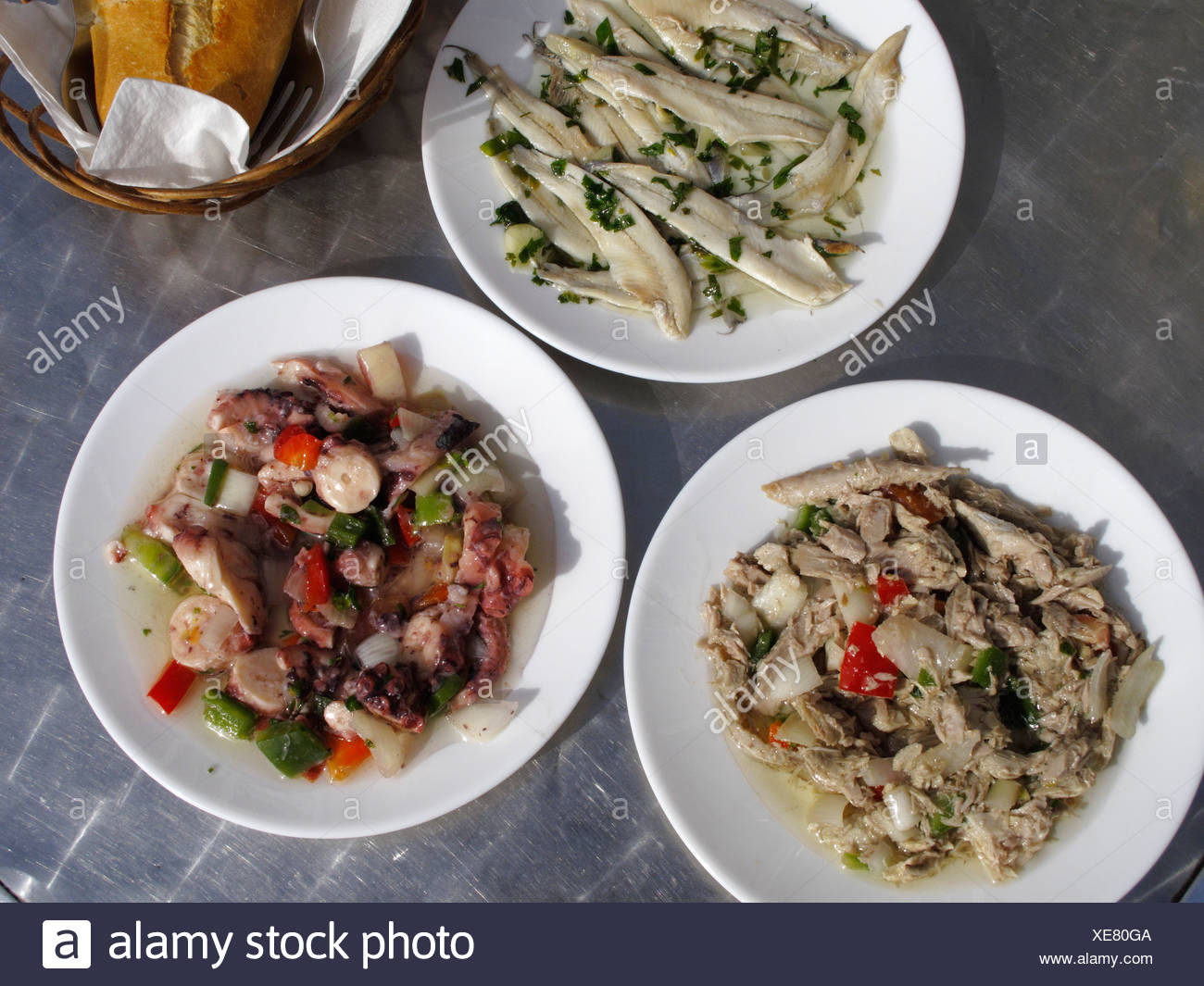 Seafood tapa, La Gomera, Canary Islands, Spain, Europe - Stock Image