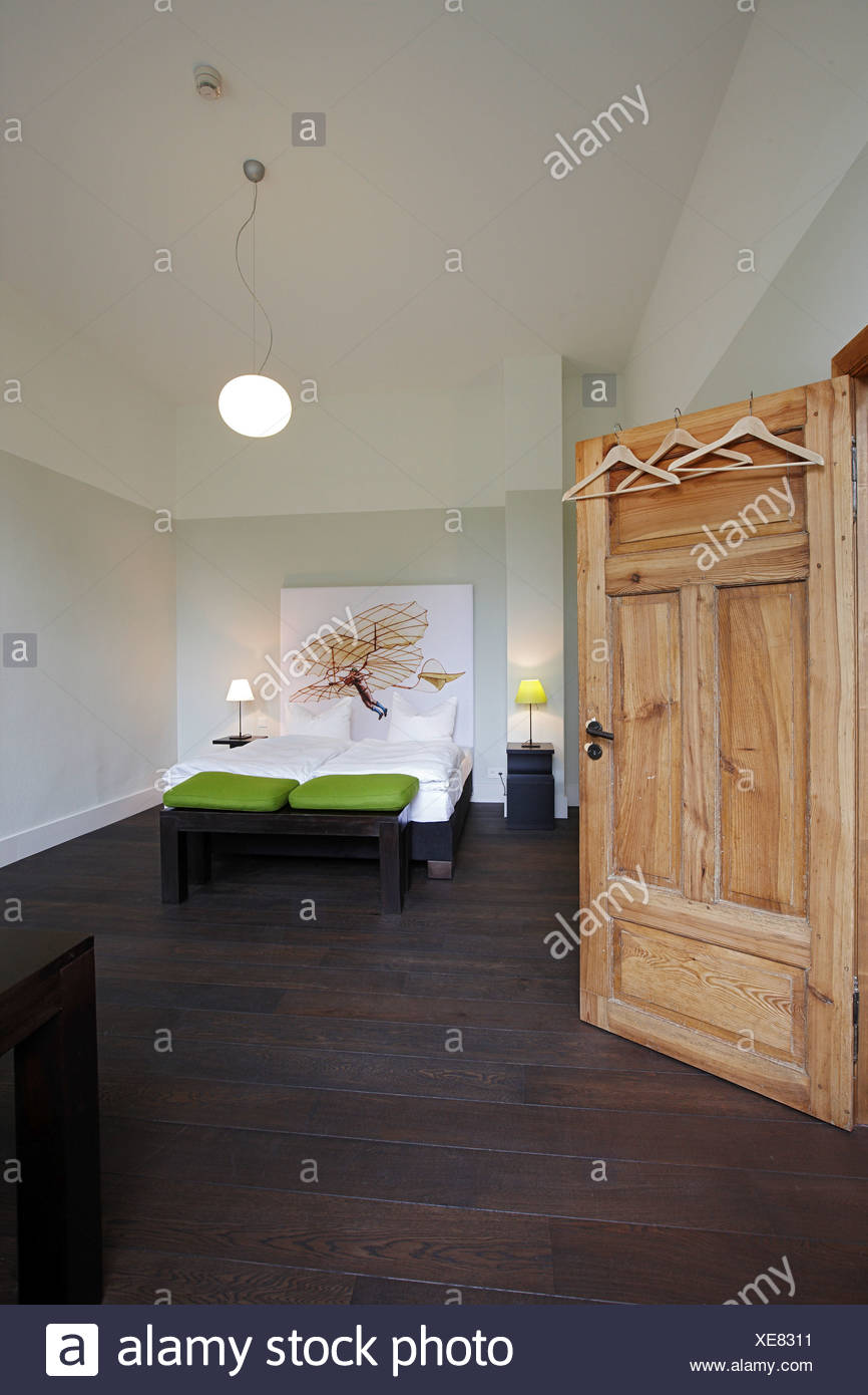 Double room, Kavaliershaus Fincken See, Fincken, Mecklenburg- Western Pomerania, Germany Stock Photo