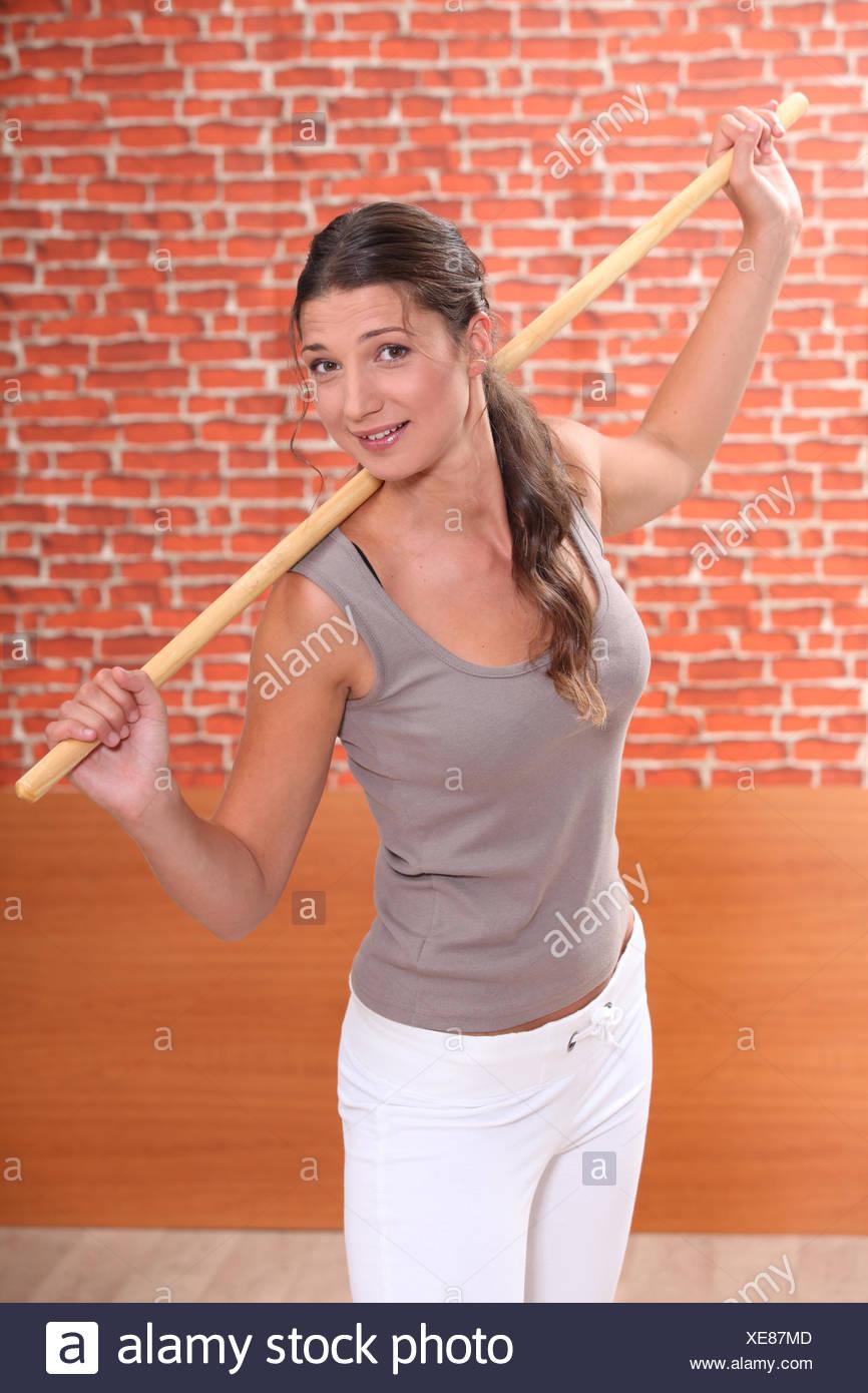 Woman doing fitness - Stock Image
