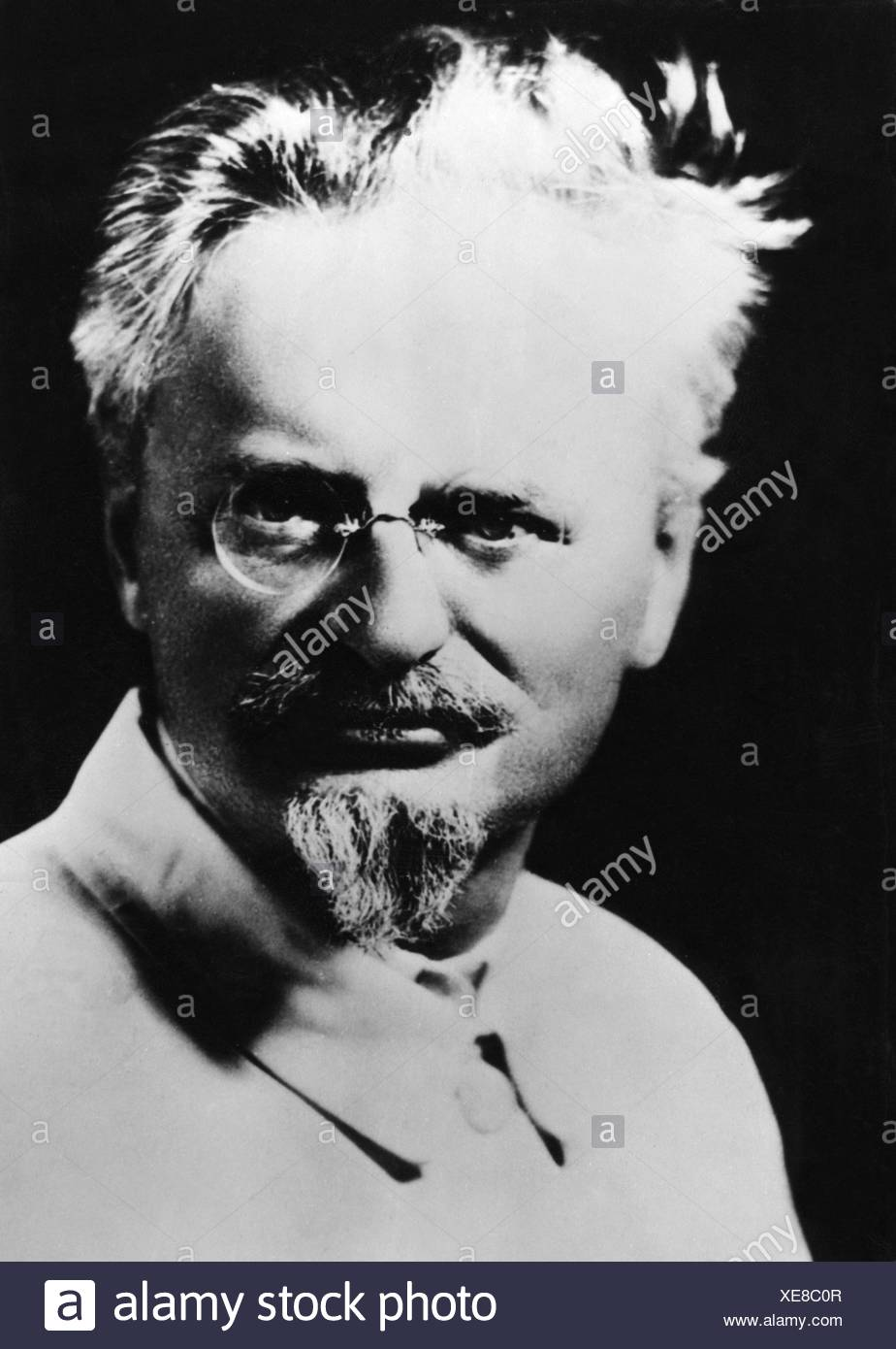 Trotsky, Leon, 7.11.1879 - 28.8.1940, Soviet politician, portrait, 1930s, Additional-Rights-Clearances-NA - Stock Image