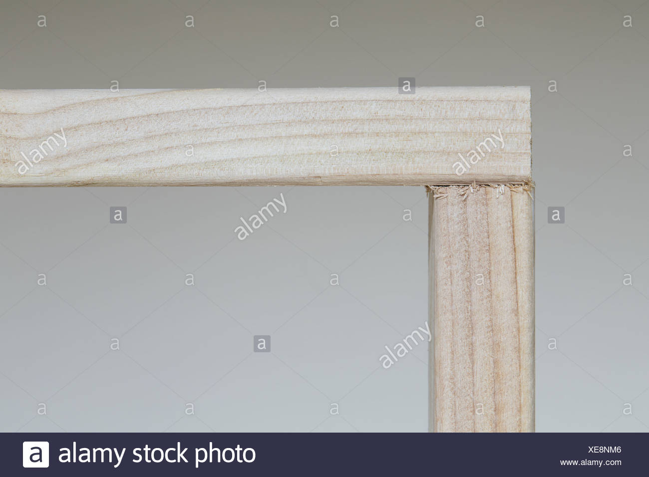 Washington State USA Spruce 2x4 wood studs at right angle - Stock Image