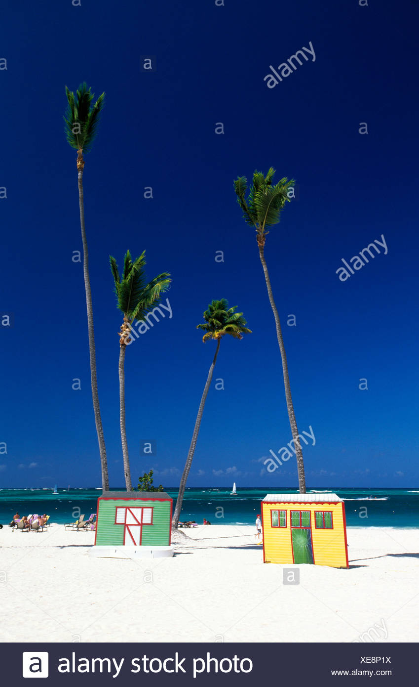outside, cathedral, dome, Rep, the Dominican Republic, outdoors, outside, Caribbean, Caribbean, palm, palms, palm beach, Playa B - Stock Image