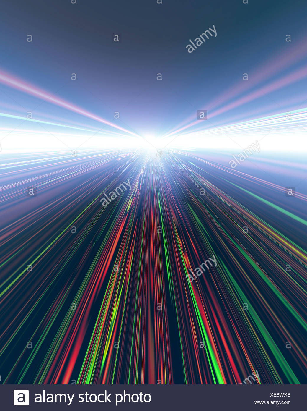 Abstract multi colored patterns (digitally generated) - Stock Image