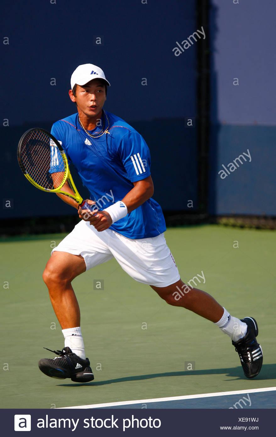 Yen-Hsun Lu, Taiwanese tennis player, US Open 2010, ITF Grand Slam Tennis Tournament, USTA Billie Jean King National Tennis - Stock Image