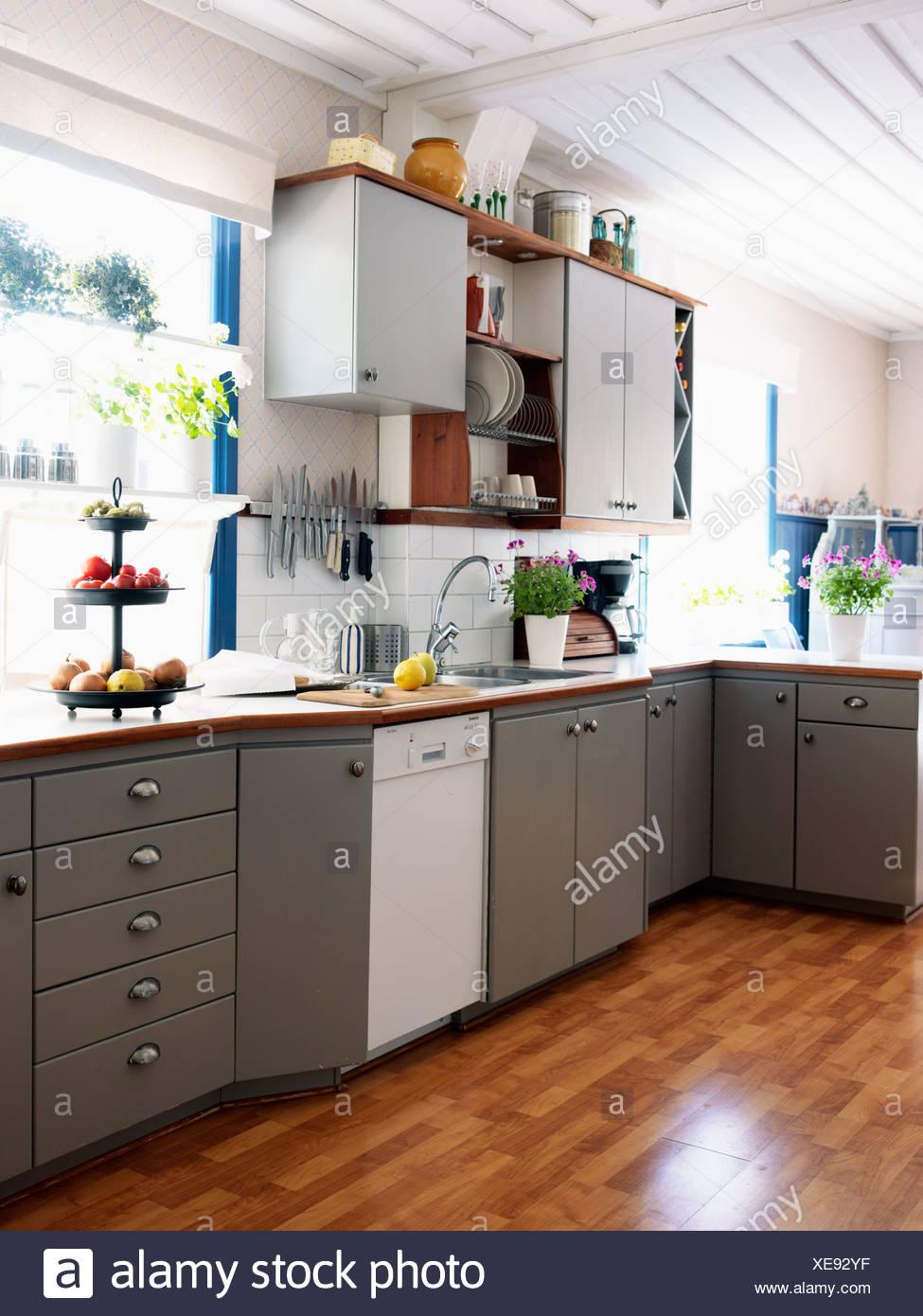 Modern kitchen design - Stock Image