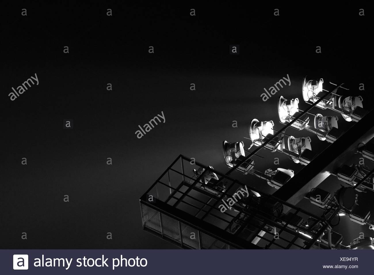 The Stadium Spot-light tower (dark background) - Stock Image