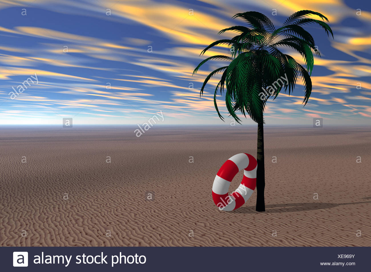 palm tree sandy beach low tide striae bathing ring sands sand blue ...