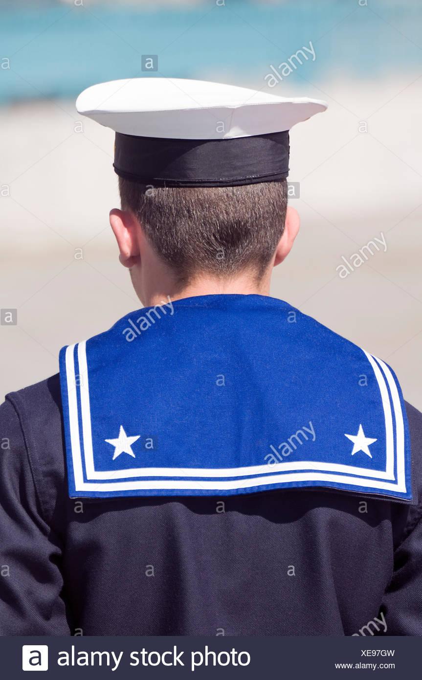 hot sale online e02c0 b430c navy cap military marine sailor blue navy male masculine hat guard soldier  - Stock Image