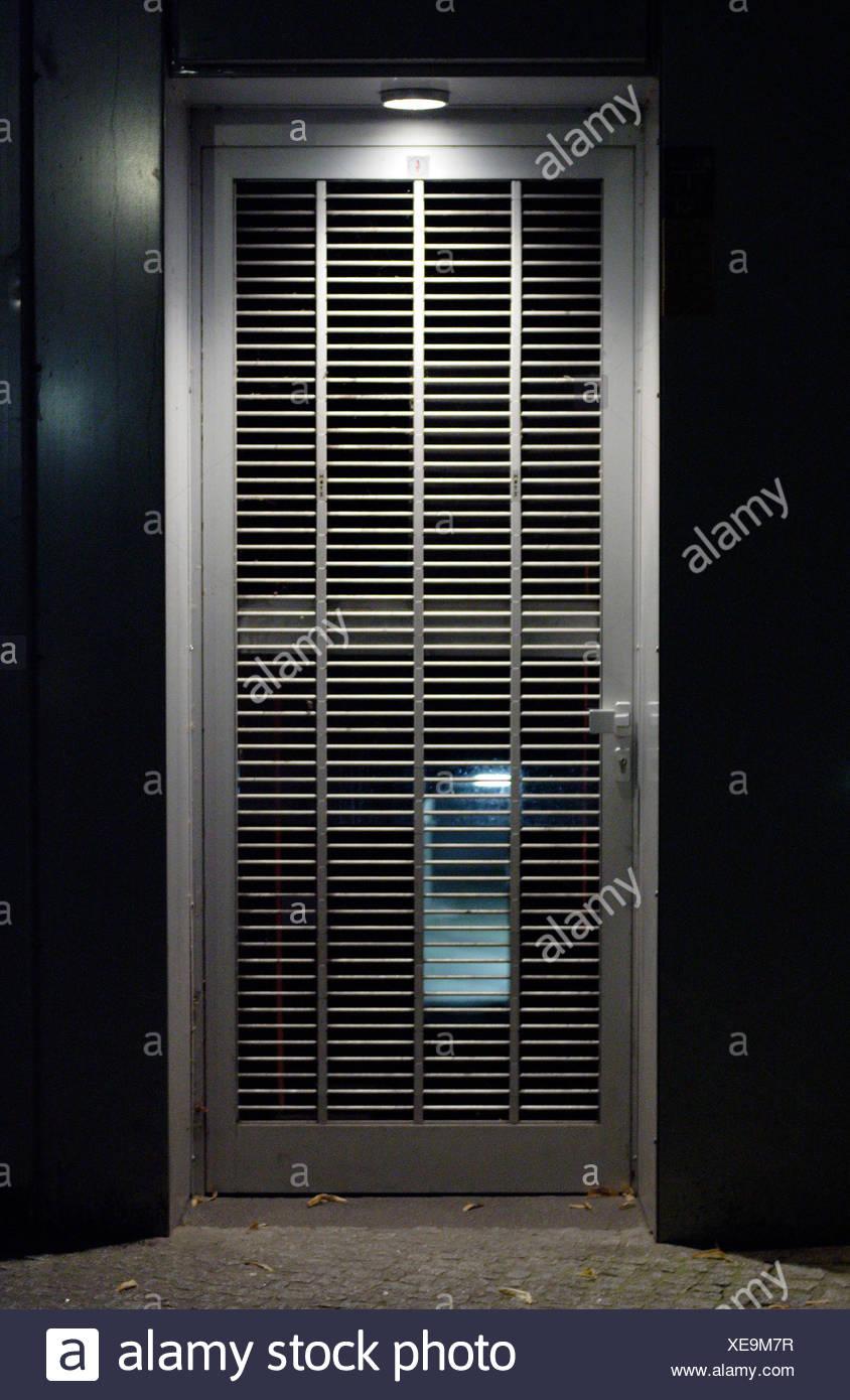 Berlin, Roll Bars On A Door   Stock Image