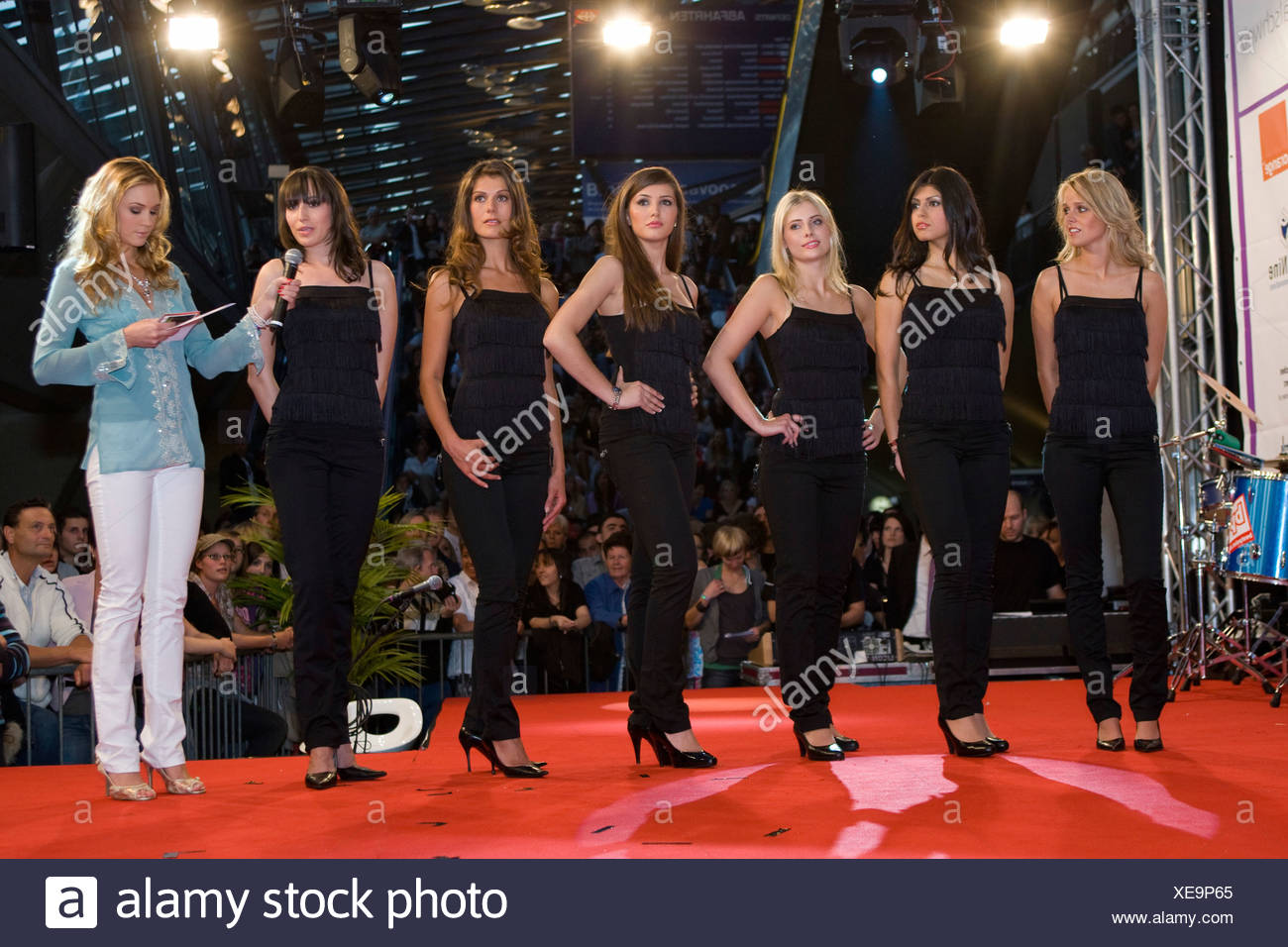 6 of the 12 finalists, from left, Nicole Mueller 23 from Rotheburg, 1st, Rana Alkhoory 21 from Rickenbach, 2nd, Andrea Reinhard - Stock Image