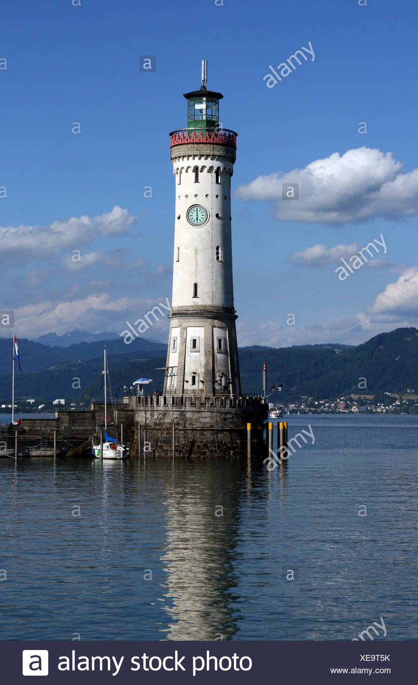 harbor lake constance harbours - Stock Image