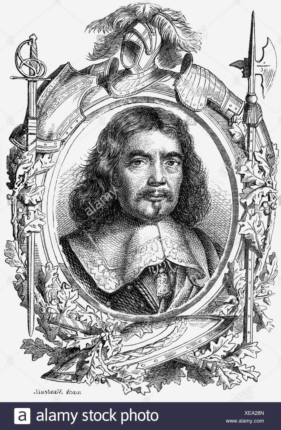 Turenne, Henri de Tour d' Auvergne Vicomte de, 11.9.1611 - 27.7.1679, French general, portrait, wood engraving, 19th century, , Additional-Rights-Clearances-NA - Stock Image