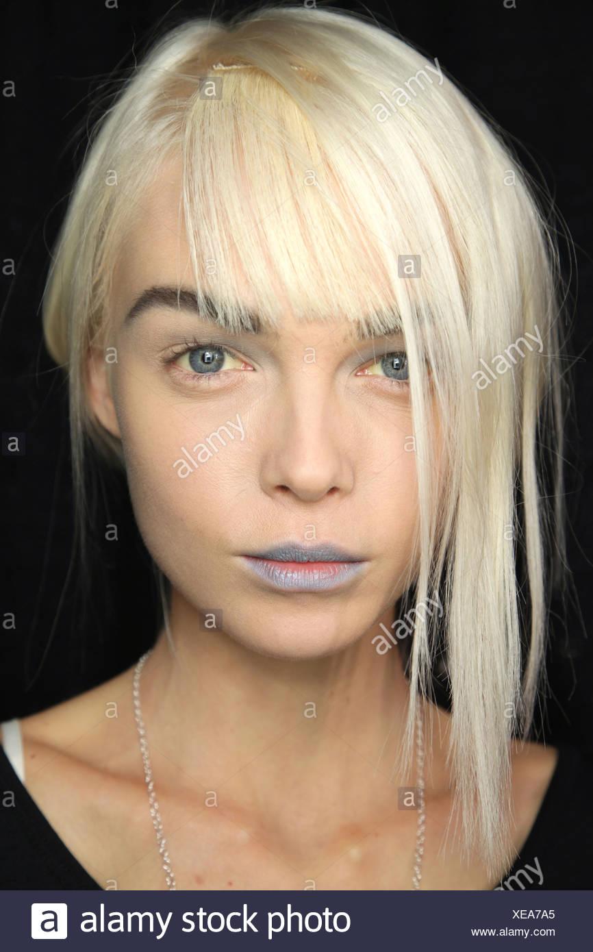 Platinum Blonde Hairstyle Stock Photos Platinum Blonde Hairstyle