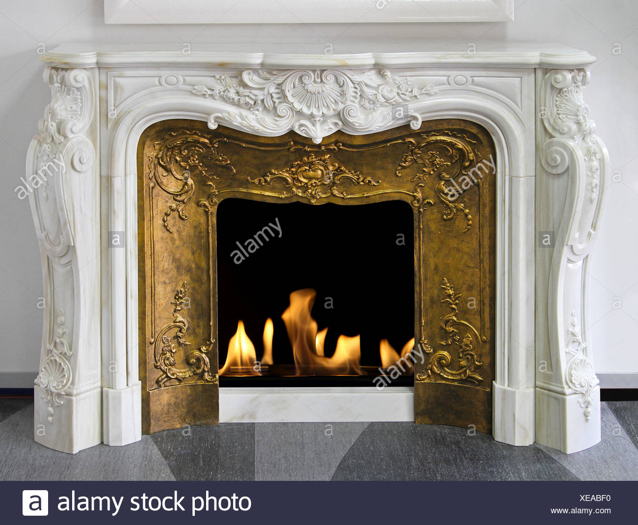 Fireplace - Stock Image