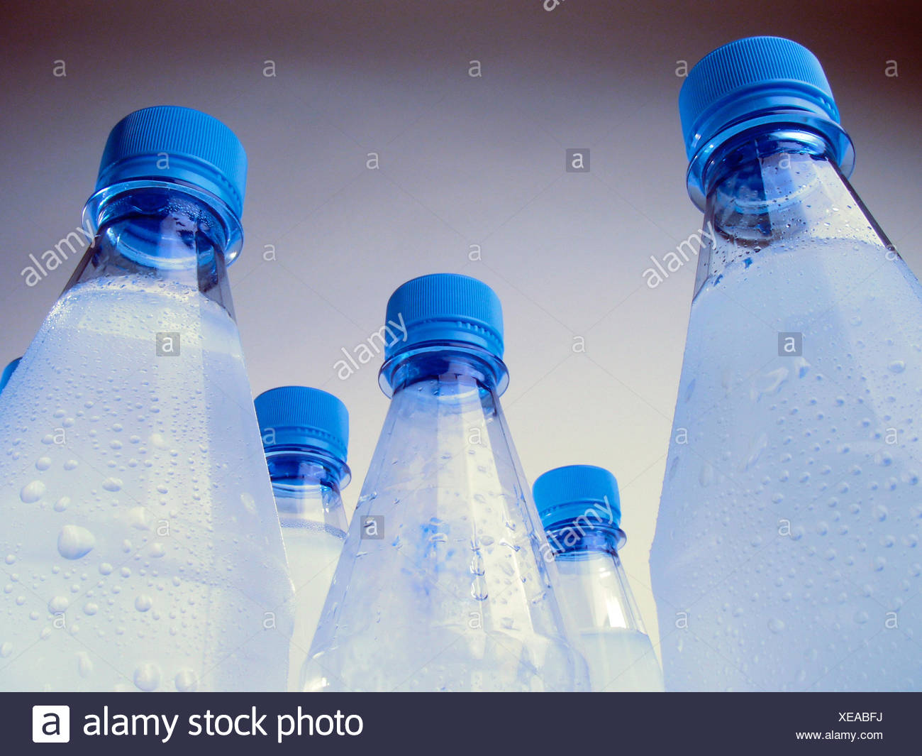 mineral water bottles - Stock Image