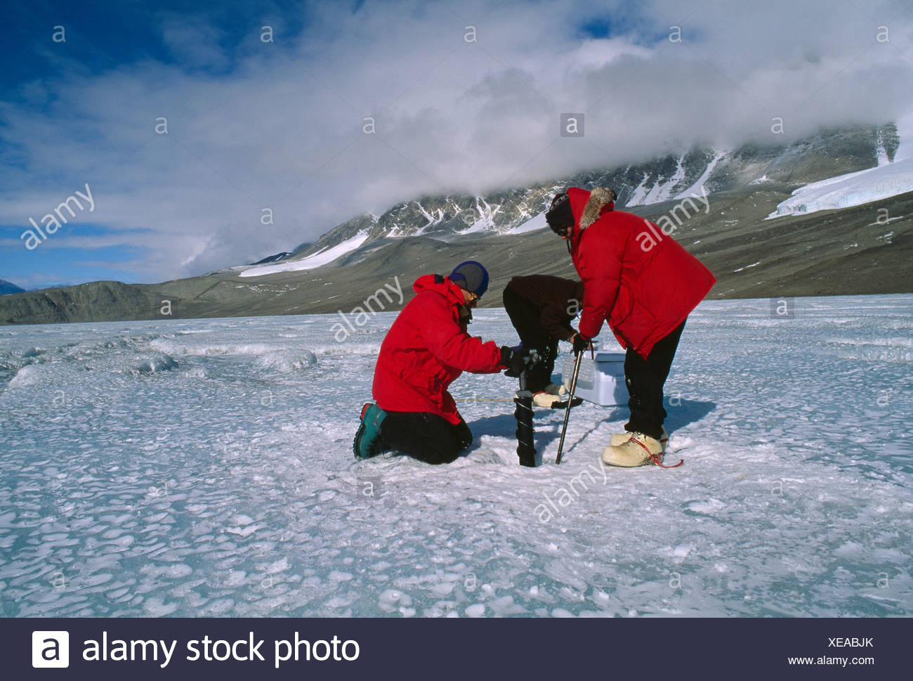 ICE CORE SAMPLING - Stock Image
