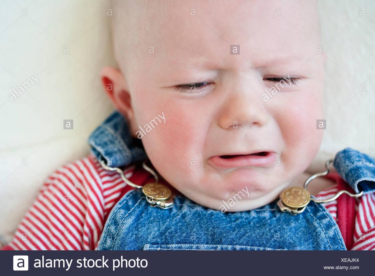 Crying baby-boy - Stock Image
