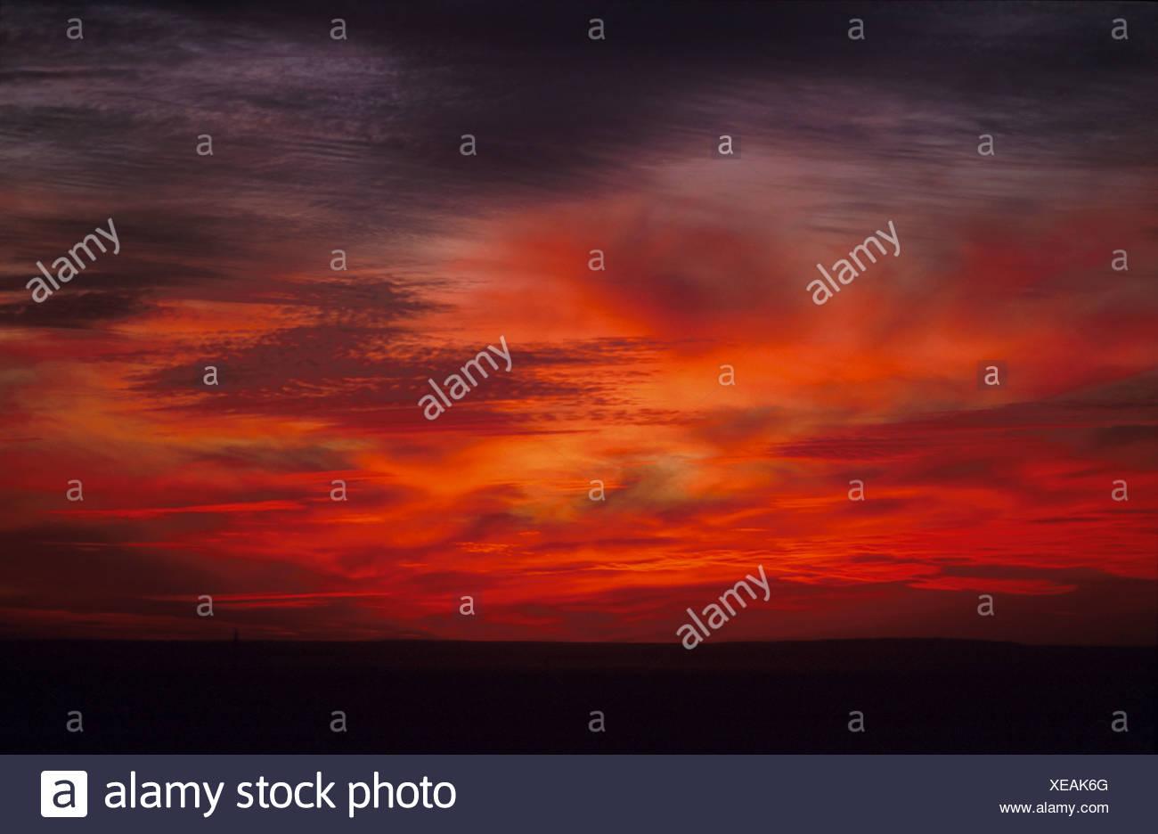 Sonnenuntergang Mari, Syrien - Stock Image