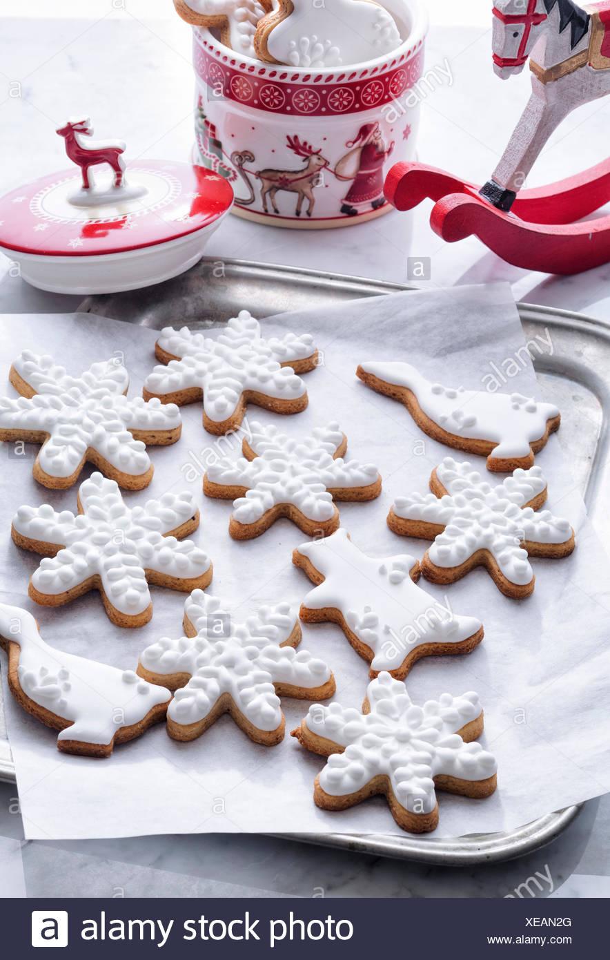 Classic Christmas Cookies On Sheet Pan Stock Photo 284207128 Alamy