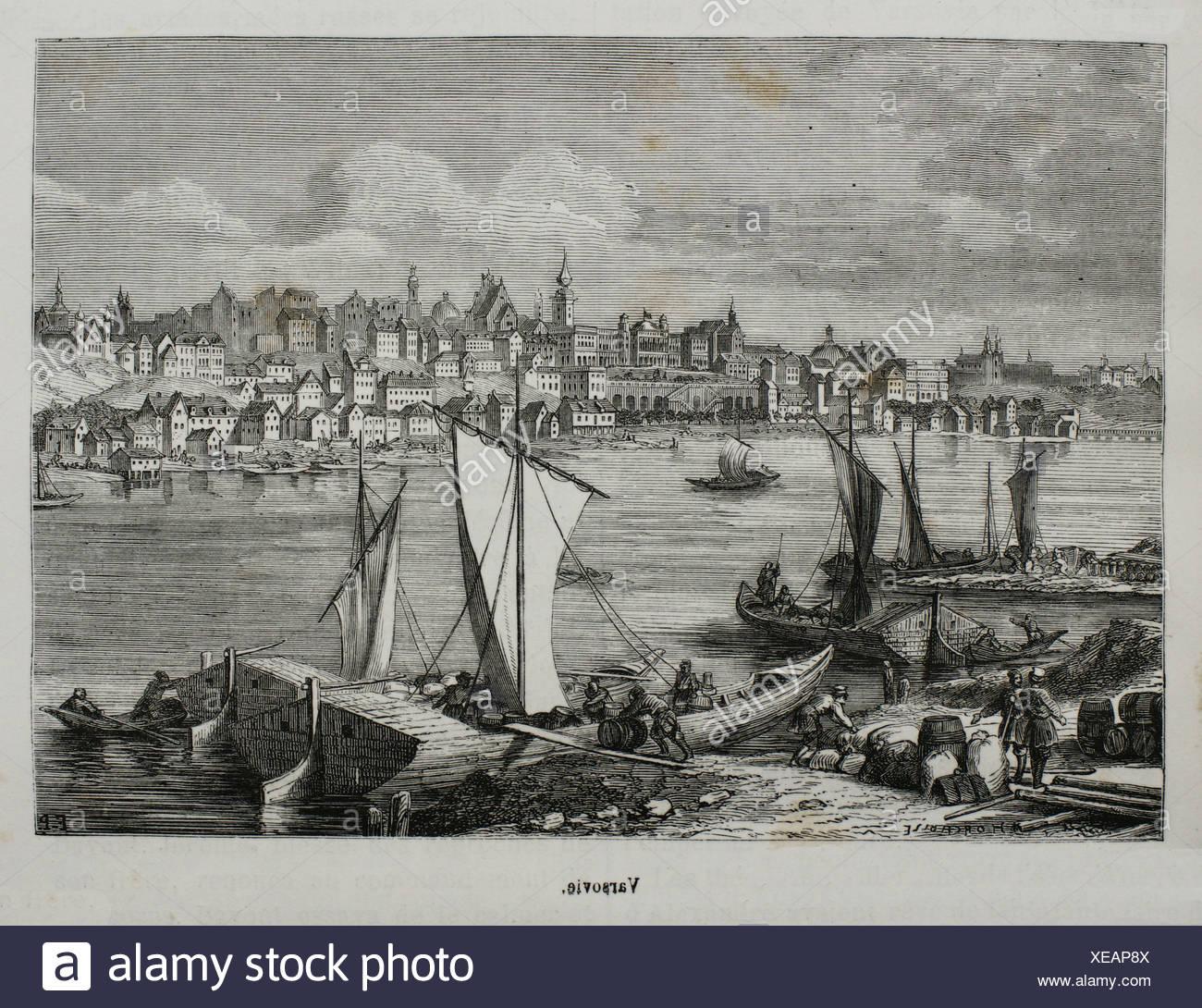 Warsaw, Poland (19th century) - Stock Image