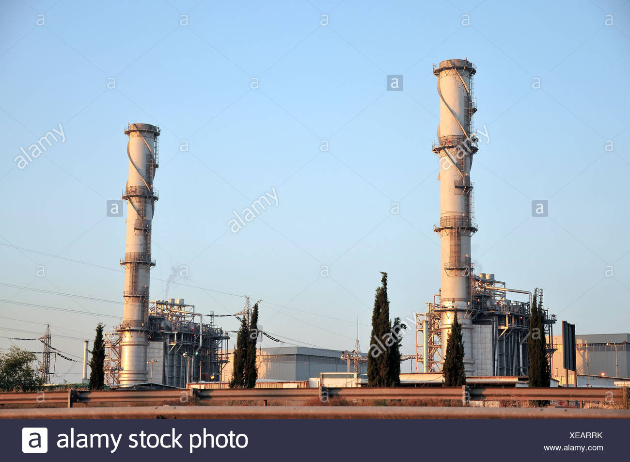 A natural gas operated powerstation Photographed in Israel - Stock Image
