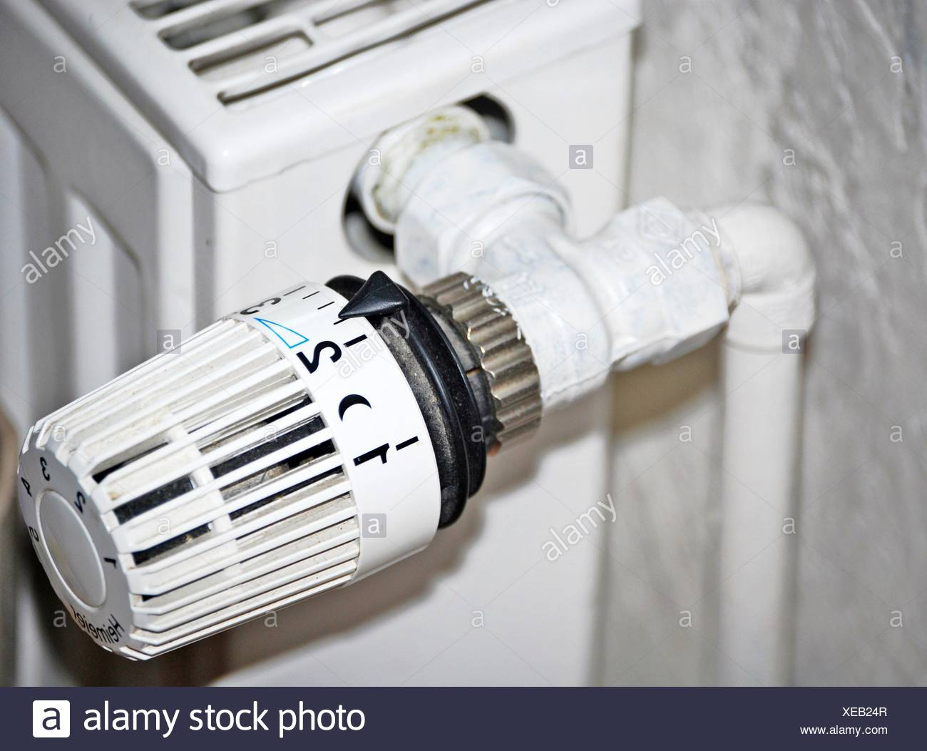 heating thermostate - Stock Image