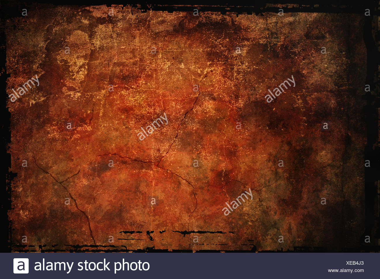 reddish brown stylized background with grange texture - Stock Image