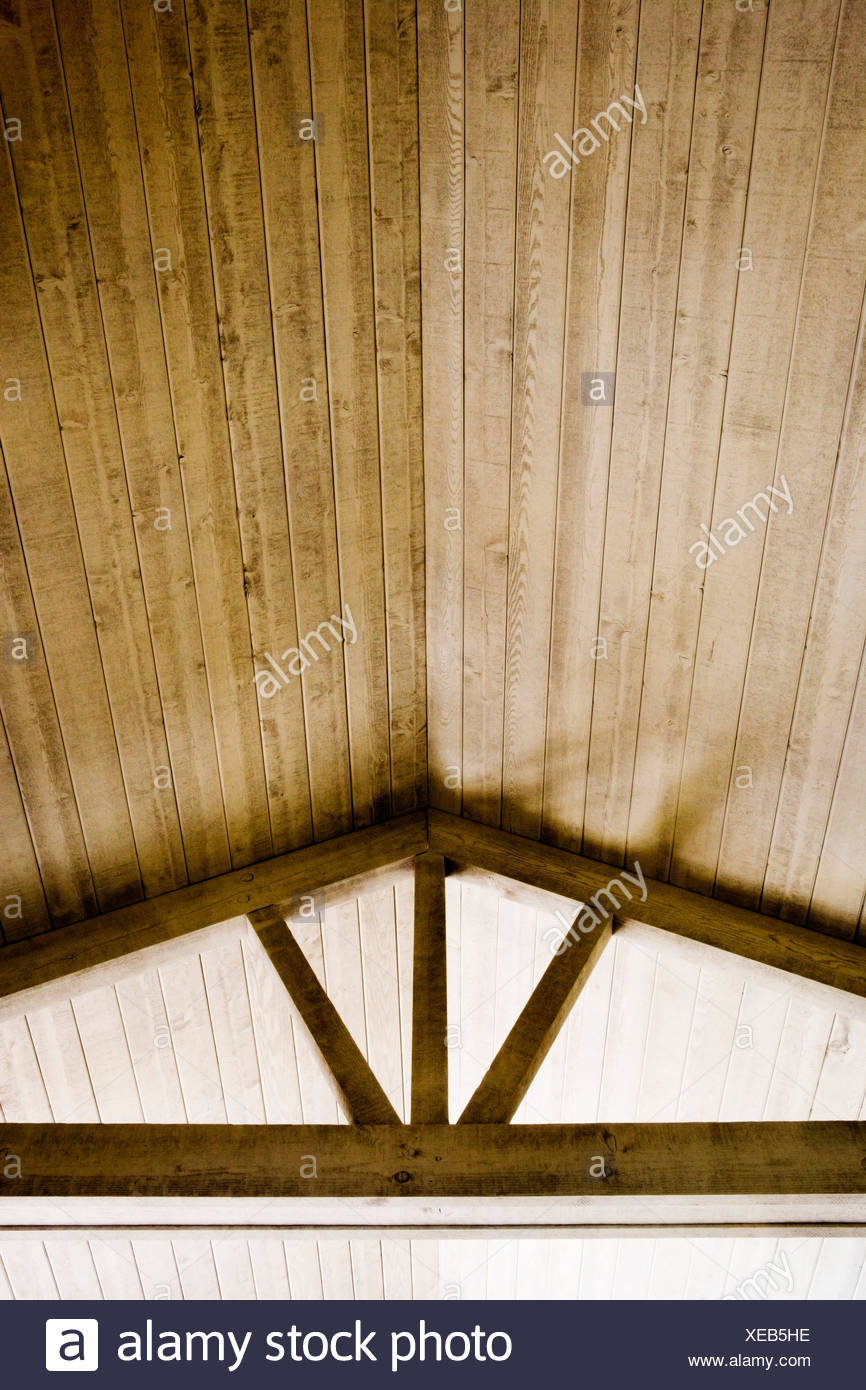 High Wood Vaulted Ceilings - Stock Image