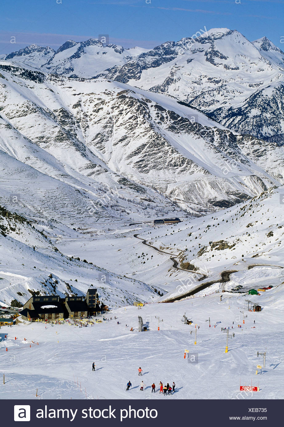 Boi Taull ski resort. Alta Ribagorça, Lleida province, Catalonia, Spain - Stock Image