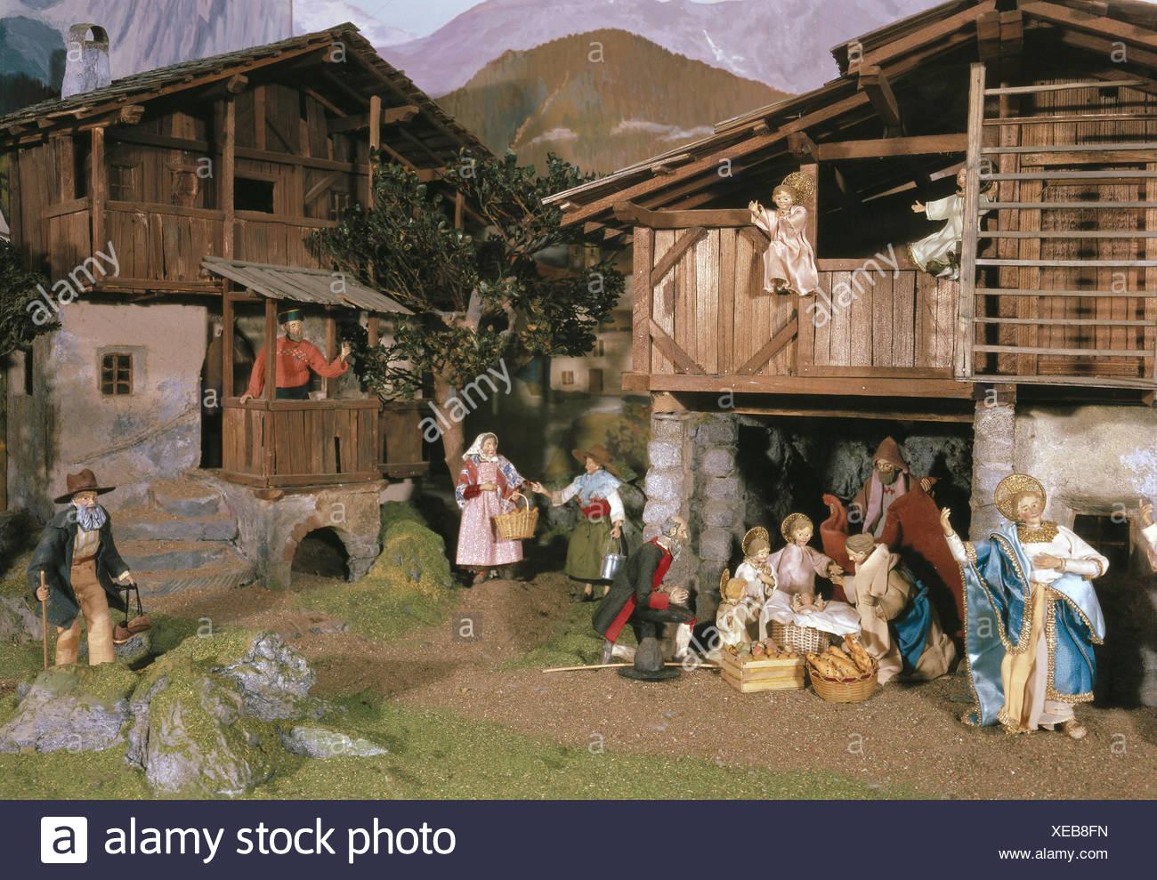 Austria Tyrol Thaur Creche Christmas Yule Tide Decoration