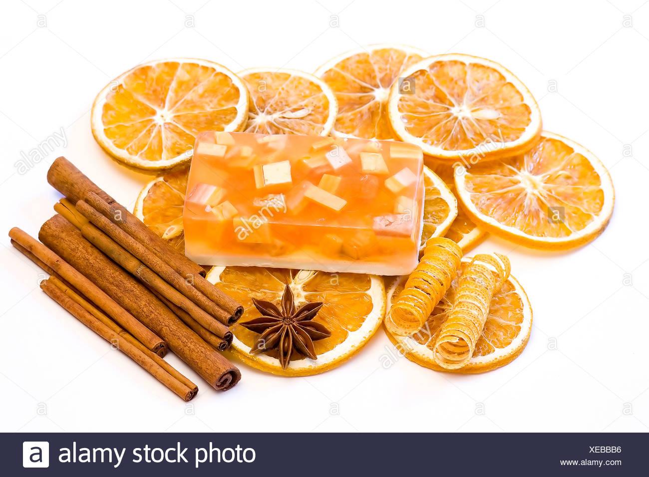 aromatic glycerin soap - Stock Image