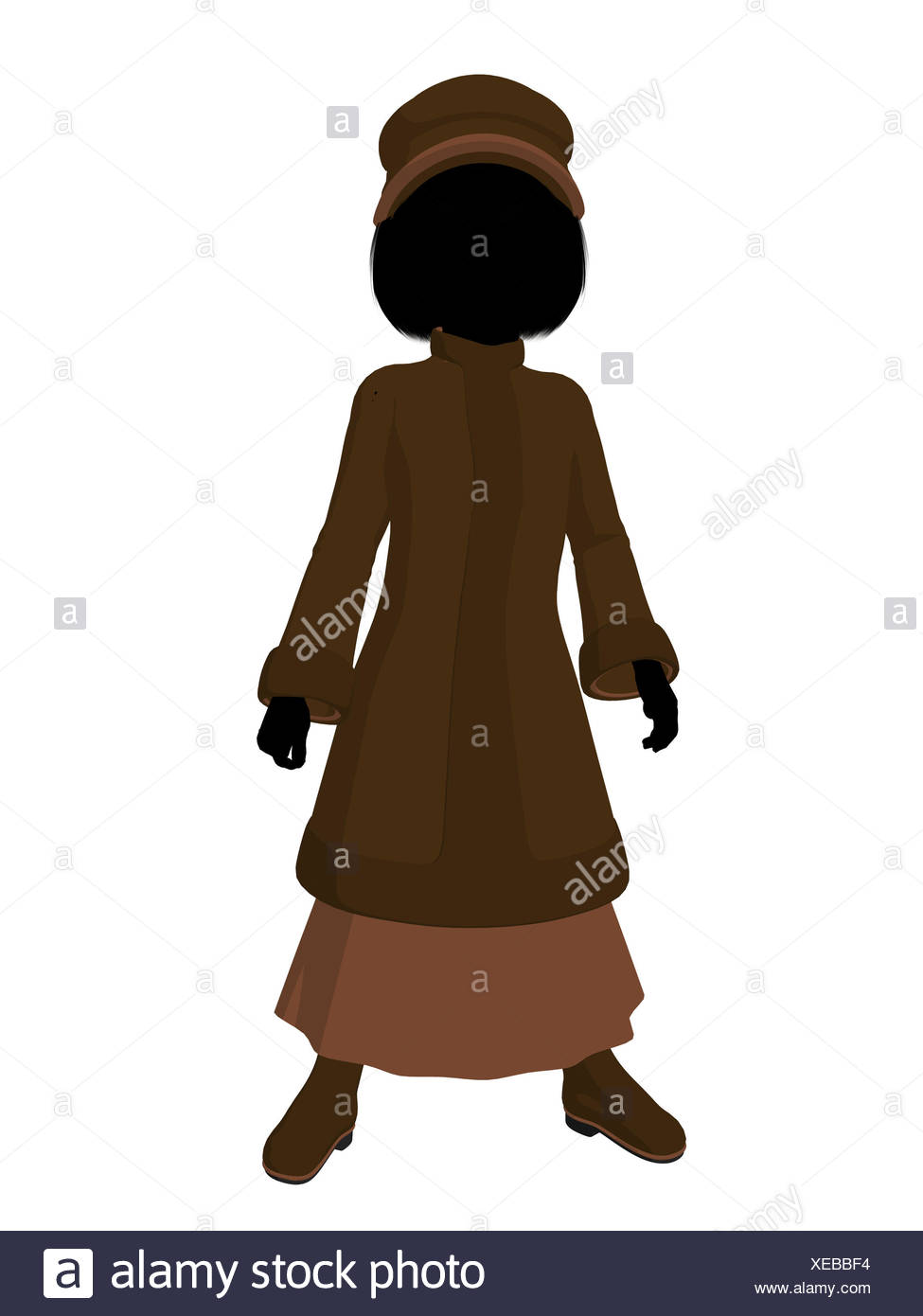 ff38607b17f Victorian Girl Illustration Silhouette Stock Photo  284221592 - Alamy