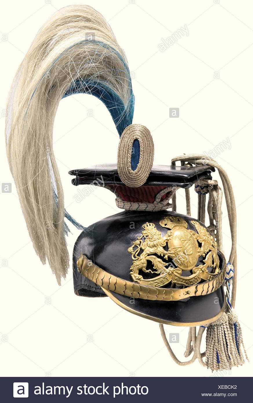 b1337894a13 a-model-188614-czapka-for-a-wachtmeister-with-parade-fittings-bavaria-1st-uhlan-regiment- kaiser-wilhelm-ii-king-of-prussia-black-lacquered-leather-skull- ...