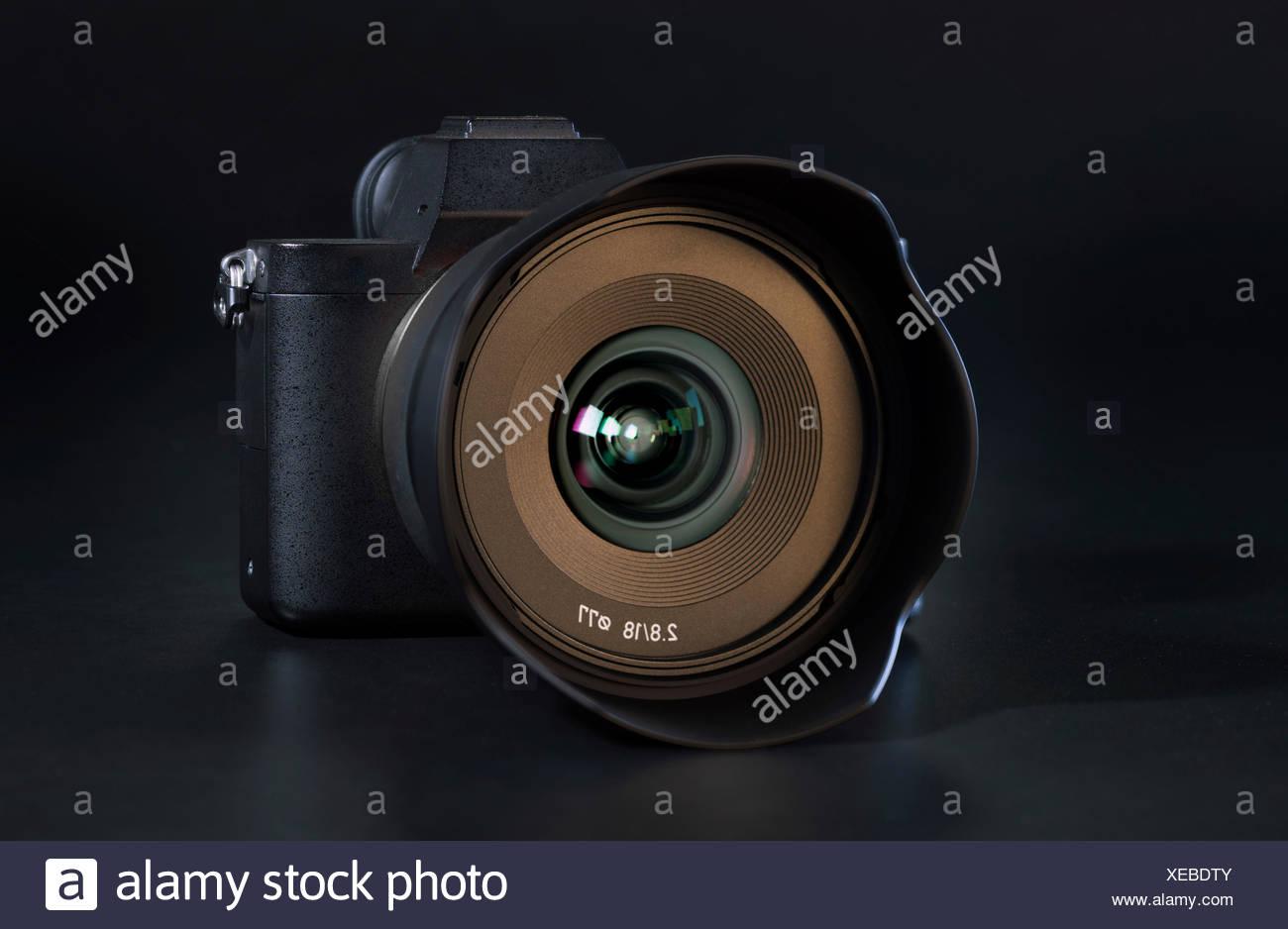 Digital camera lens. - Stock Image