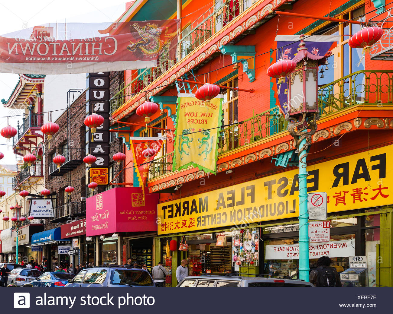 Chinatown in San Francisco - Stock Image