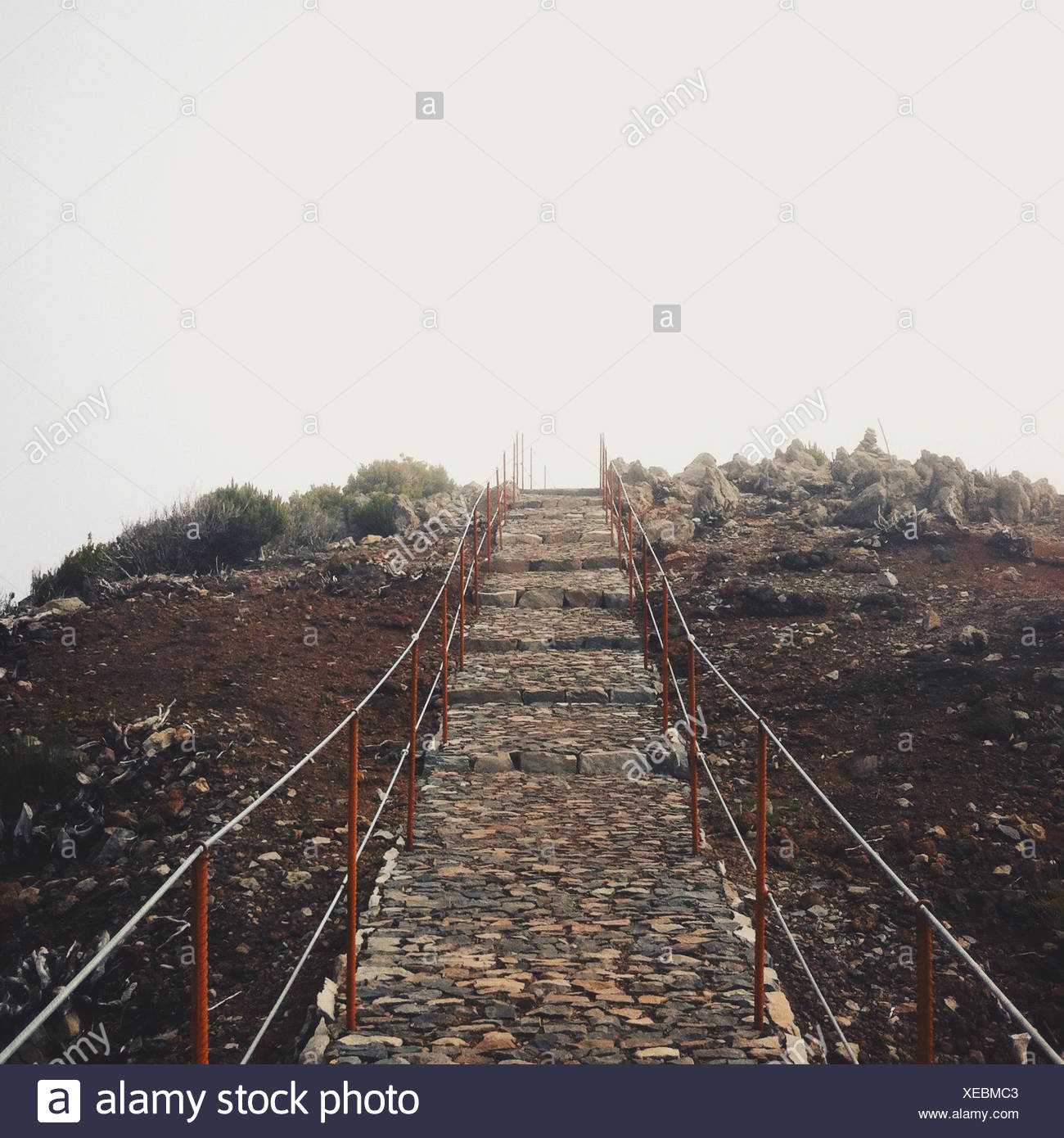Stony trail to the sky - Stock Image