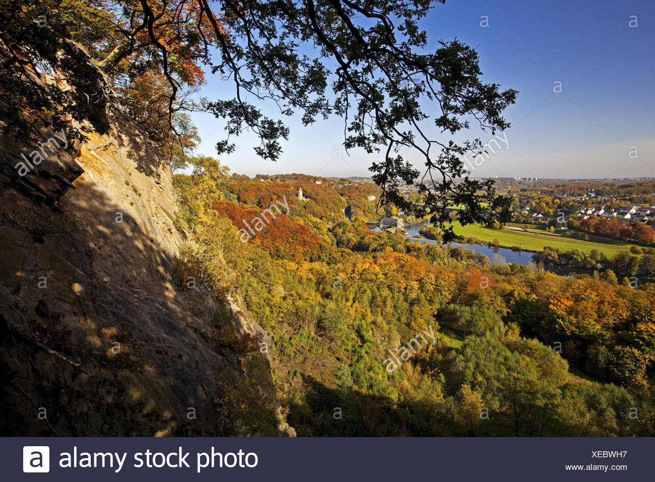 The Ruhr valley in autumn, Witten, Germany - Stock Image