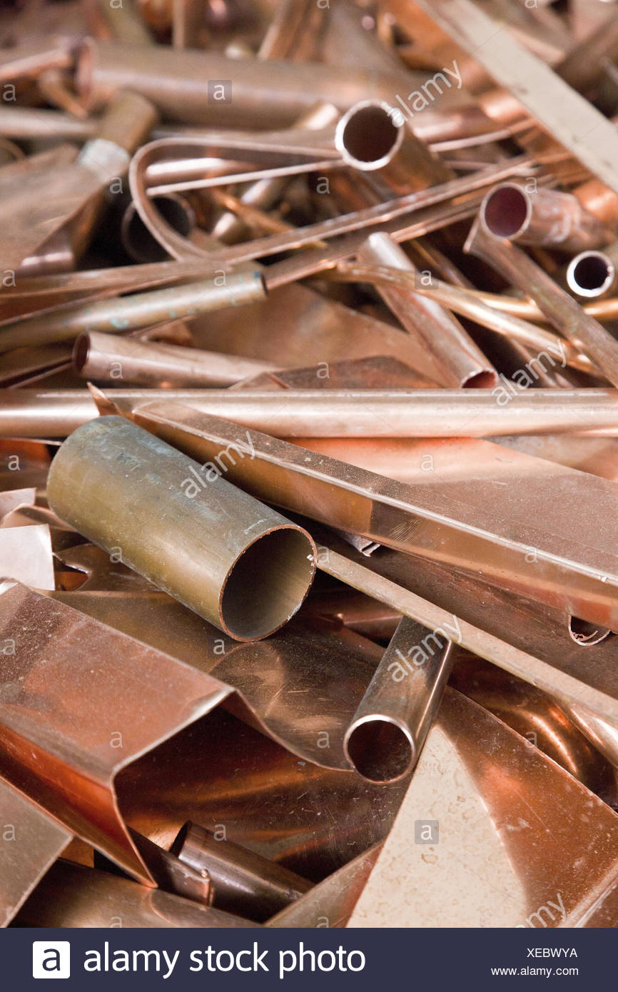 Copper, recycling, - Stock Image