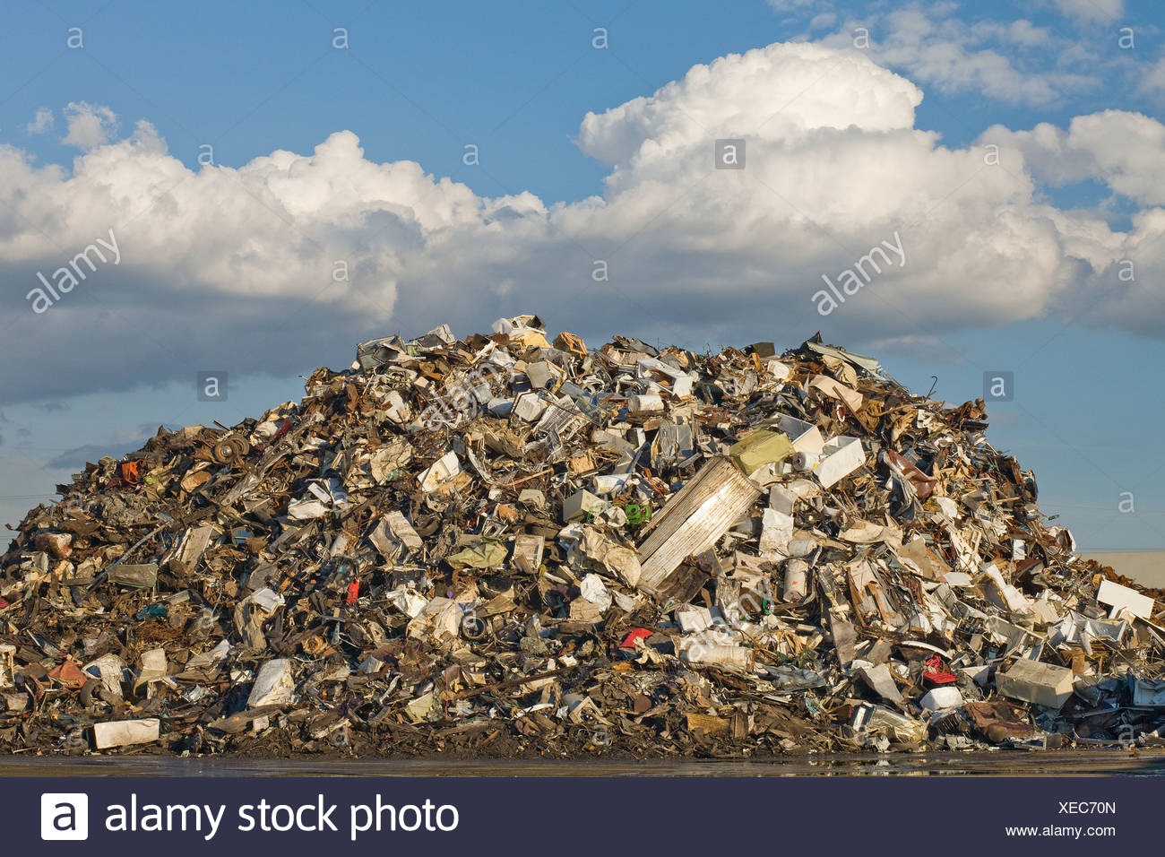 Scrap pile in scrap yard Stock Photo